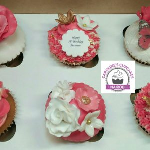 vintage lady cupcakes