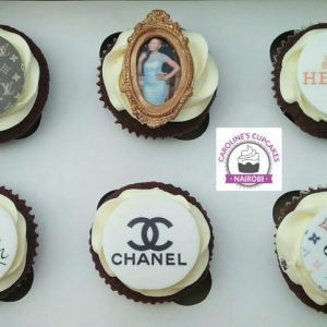 Lady Picture Frame Cupcakes