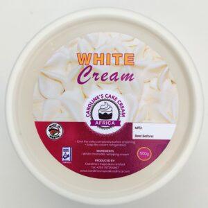 white cake cream