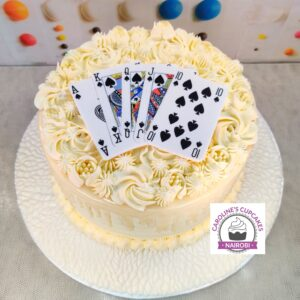 royal flush poker cake